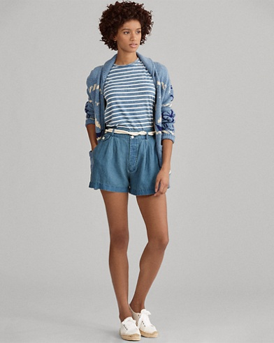Rope-Belt Linen Short