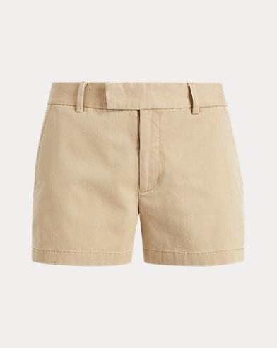 Shorts aus Baumwolltwill