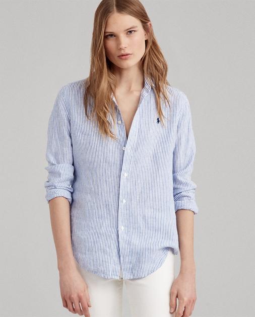 3b34d33f1c4 Relaxed Striped Linen Shirt