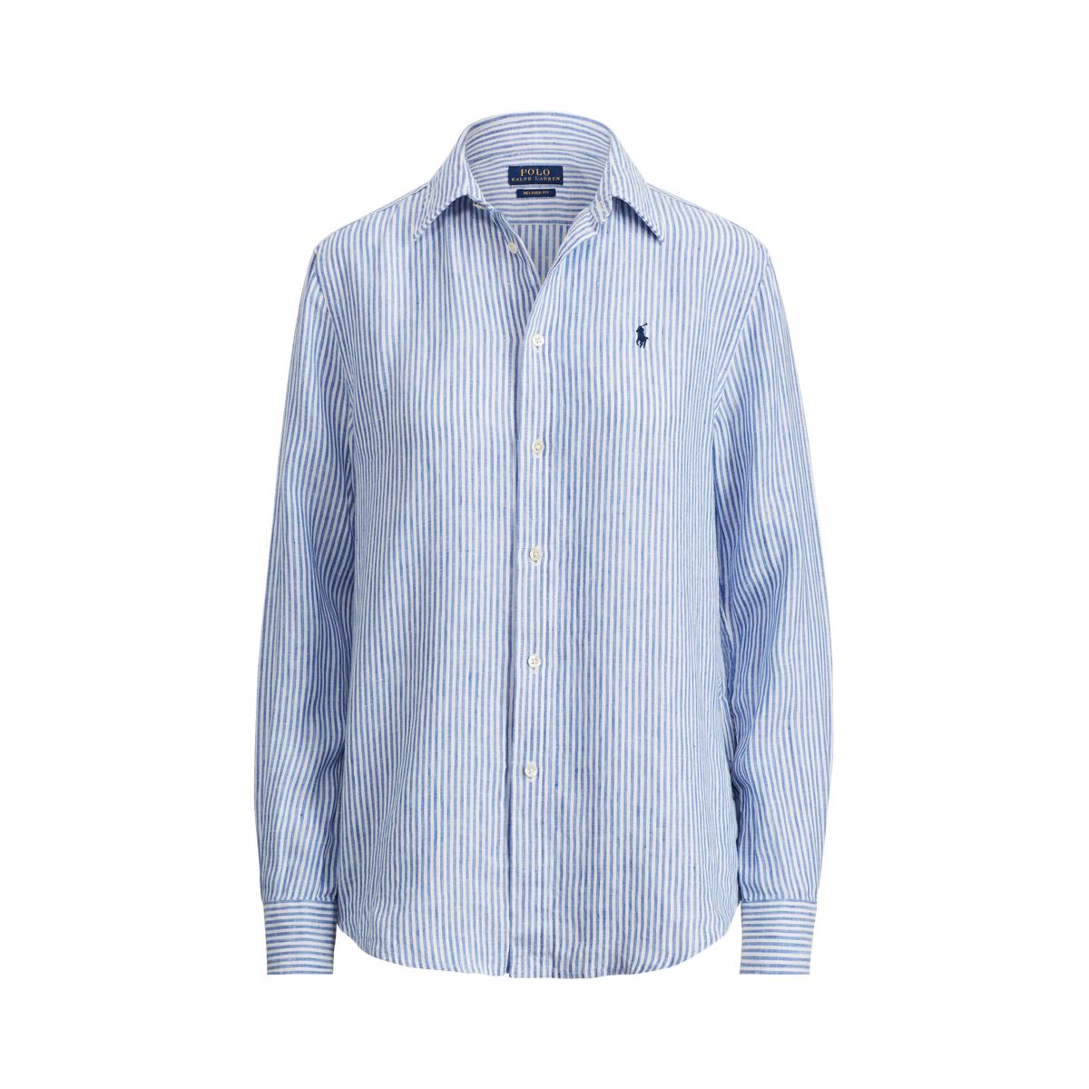 84fe9b9f2f41 Relaxed Striped Linen Shirt