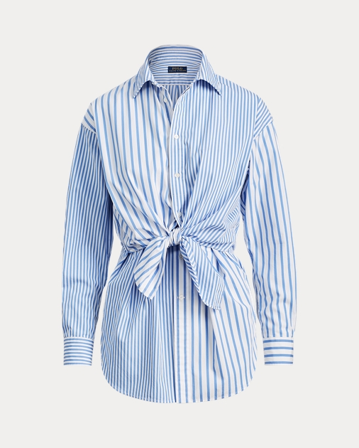 3cded81ef00 Polo Ralph Lauren Tie-Front Striped Cotton Shirt 2