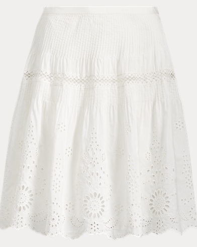 Lace-Embroidered Skirt