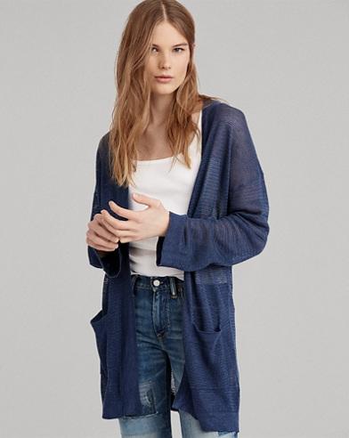 Linen Open-Front Cardigan