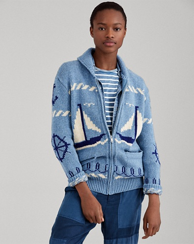 Sailboat Shawl Sweater