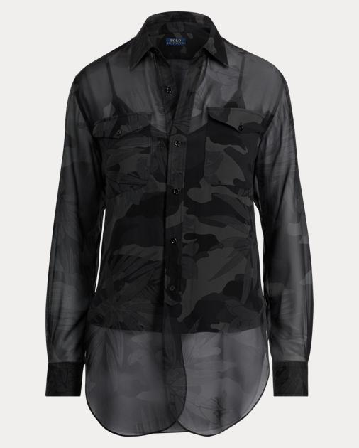 6a1a429ab891f Polo Ralph Lauren Camo Silk Georgette Shirt 2