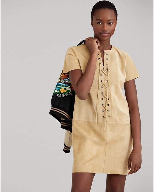 Polo Ralph Lauren Lace-Up Suede Dress