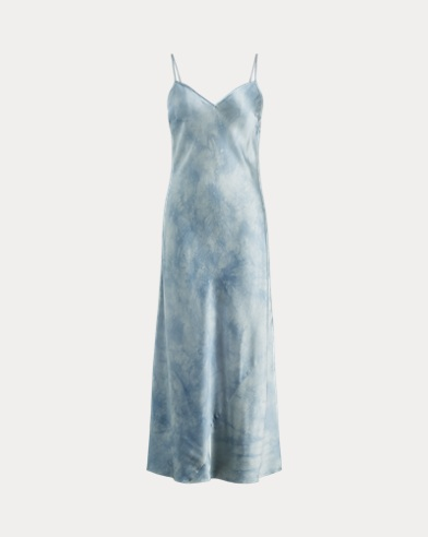 Tie-Dye Silk Maxidress
