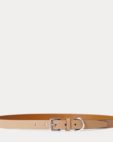 Pebbled Faux-Leather Belt