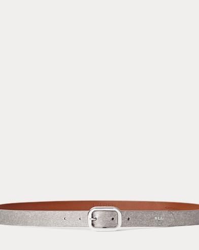 Cintura in pelle saffiano