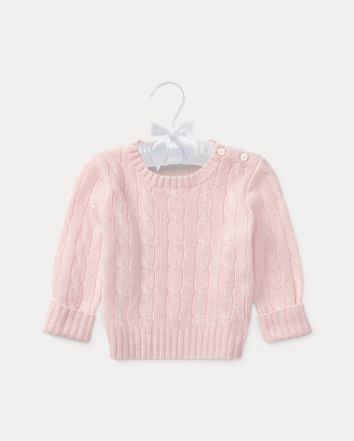 Navy Infant Girl Cardigan Ralph Lauren Baby Polo Cable Knit Sweater