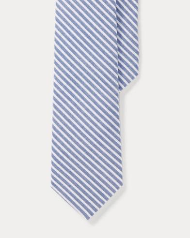Cotton Seersucker Tie