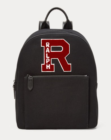 Chenille-Patch Canvas Backpack