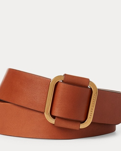 Square-Buckle Calfskin Belt