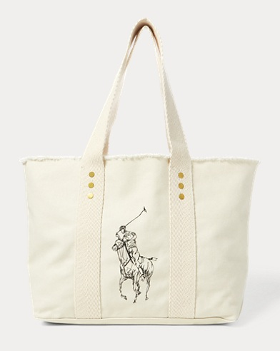Tote media Big Pony in tela