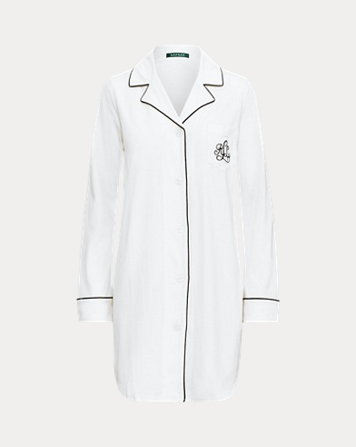 Camicia da notte in modal di cotone