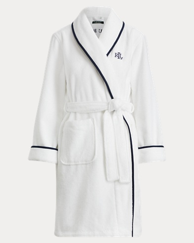 Cotton Terry Shawl-Collar Robe