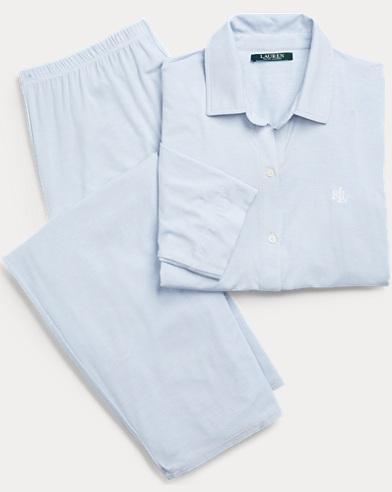 Gestreifter Pyjama aus Modal
