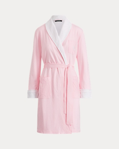 Striped Cotton-Blend Robe