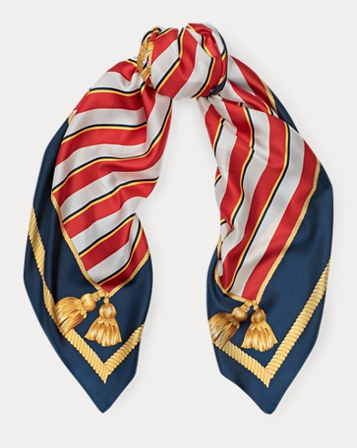 Shield Crest Silk Scarf