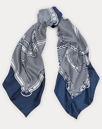 Bridle-Print Silk Twill Scarf