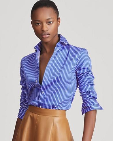 Charmain Striped Satin Shirt