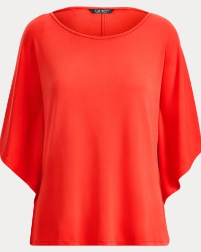 Jersey Dolman-Sleeve Top