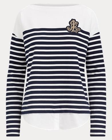 Striped Layered Cotton Sweater