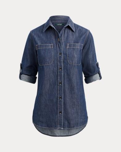 Camicia button-down in denim