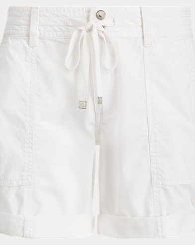 Cotton Twill Drawstring Short