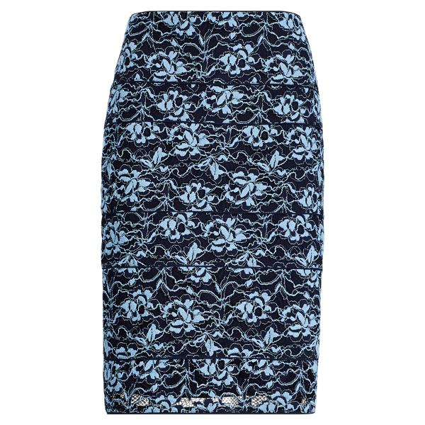 Ralph Lauren Scalloped Lace Pencil Skirt Blue/Navy 14