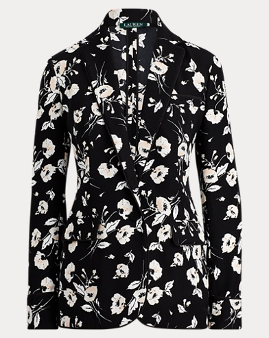 Floral Crepe Jacket