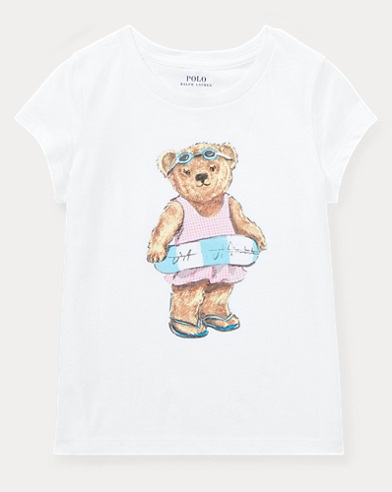 Baumwoll-T-Shirt mit Pool-Time-Bear