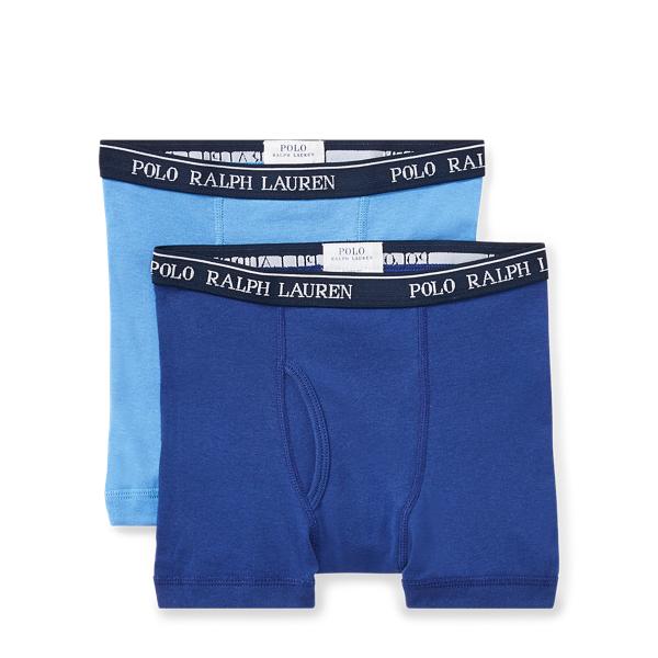 Ralph Lauren Cotton Boxer Brief 2-Pack Navy/Blue S