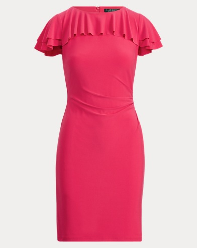 Ruffled Stretch Jersey Dress