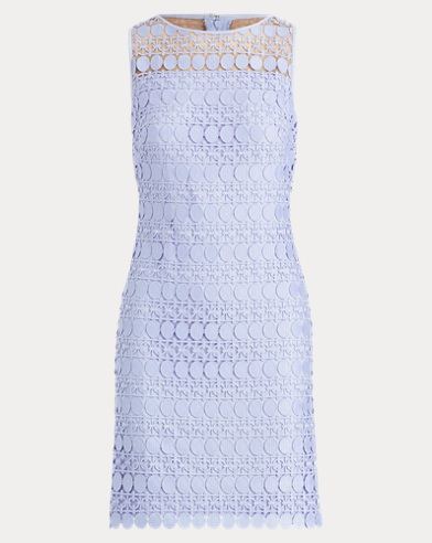 Lace-Mesh Sleeveless Dress