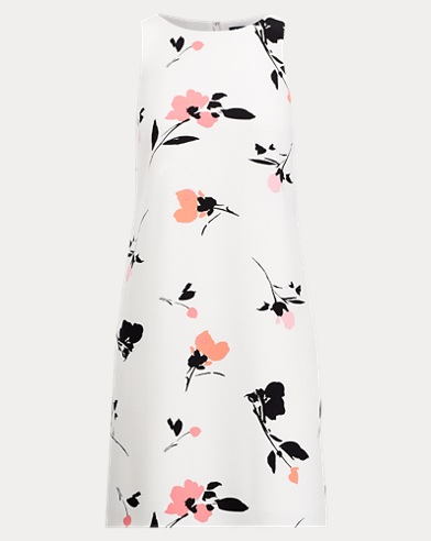 Floral Crepe Shift Dress