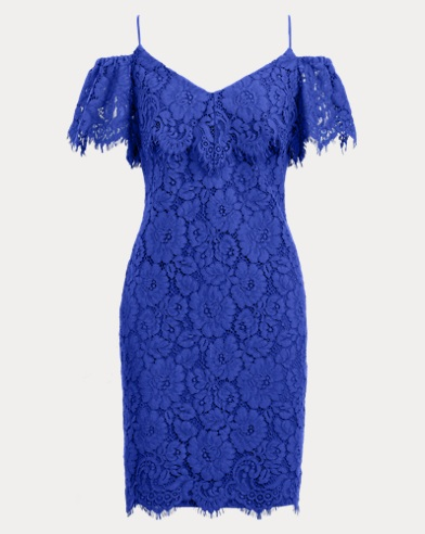 Lace Cold-Shoulder Dress