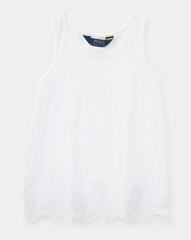 Lace-Trim Jersey Tank Top