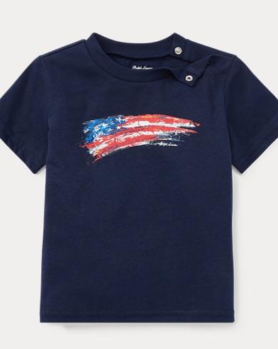 Maglietta in jersey con bandiera