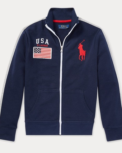Trainingsjacke USA aus Baumwolle