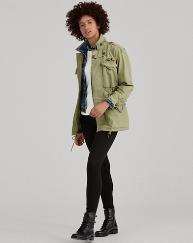 52366a0d7dc Twill Military Jacket