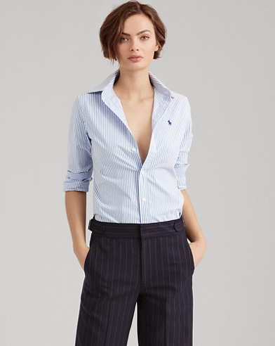 Stretch Slim Striped Shirt