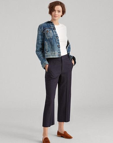 Pinstripe Merino Wool Pant