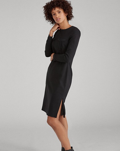Slim-Fit Kleid aus Stretch-Cady