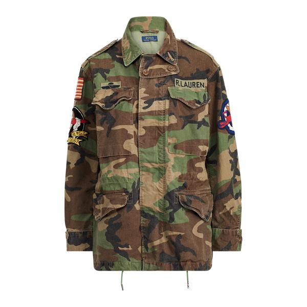 Ralph Lauren Camo Military Combat Jacket Camo Multi S