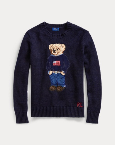 Polo Bear Cotton-Linen Sweater
