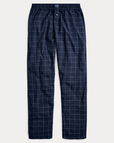 7cb8437f19 Windowpane Cotton Pajama Pant. Polo Ralph Lauren