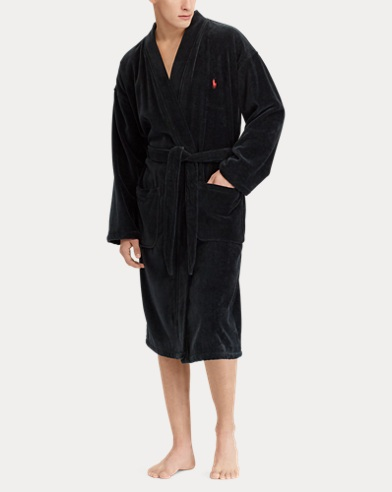 Cotton Velour Kimono Robe