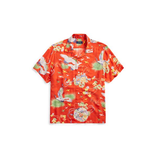 Ralph Lauren Classic Fit Camp Shirt Crane Hawaiian 2X Big