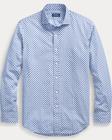 Classic Fit Print Cotton Shirt